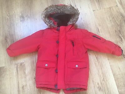 Boys Next Red Coat Age 2-3 Years