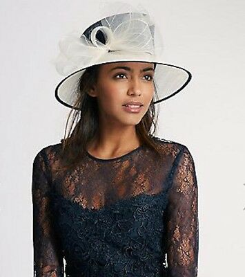 Marks & Spencer, Ladies Day, Race Day, Garden Party, Wedding Hat In Navy Blue