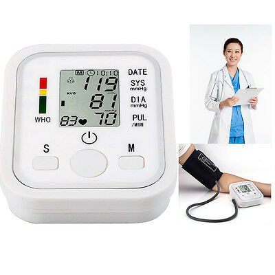 UK Upper Arm Blood Pressure Monitor Digital Automatic Intellisense 99 Memory