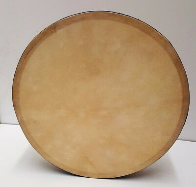 18 inch Single Bar Adjustable Head DRUM Natural Wood with Blue Band DRM18SMW1