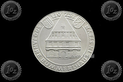AUSTRIA 50 SCHILLING 1973 (BUMMERL HOUSE) SILVER Comm. Coin (KM# 2916) XF+