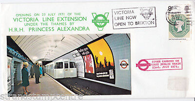 1971 Opening of the Victoria Line Extension Commemorative Cover