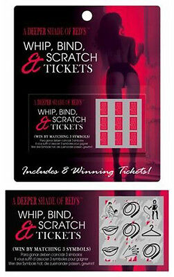 WHIP, BIND & SCRATCH CARDS Sex Card ADULT Romantic Gift Naughty