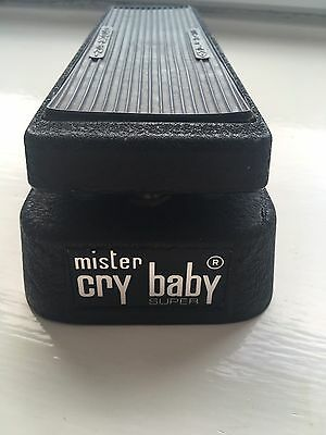 JEN mister CRYBABY Super - White Fasel Vintage Italian Wah Volume Pedal Hendrix