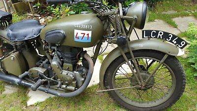 ROYAL ENFIELD MILITARY MODEL C/MODEL G ENGINE MOTORCYCLE  transferrable number