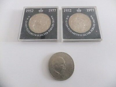 Winston Churchill and Two Silver Jubilee Coins