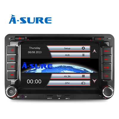 For VW PASSAT GOLF MK5 6 TOURAN CADDY JETTA Car Stereo DAB+ Radio DVD CD GPS 7""