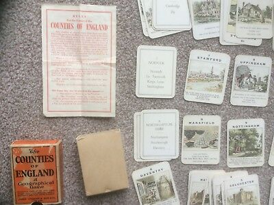 The Counties Of England Series 3 Eastern Counties. John Jaques Card Game C.1930