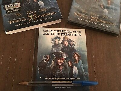 Pirates Of The Caribbean Dead Men Tell No Tales HD Digital Code ONLY