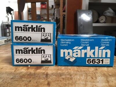 MARKLIN HO lot de 3 boitiers courant alternatif 6600 et 6631