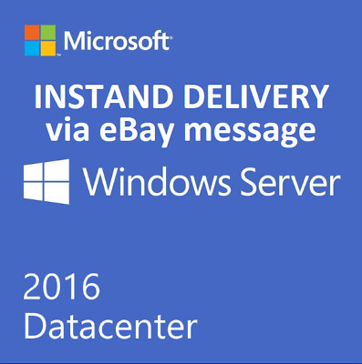 Windows Server 2016 Data Center License Key Life Time Activation + Download
