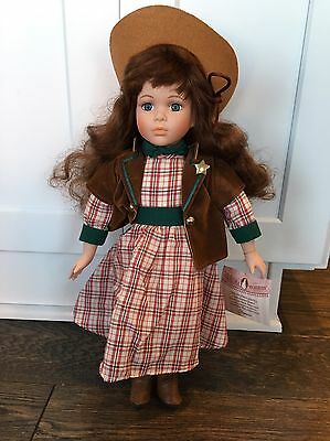 """Beautiful """"Danice"""" Collectible Memories Porcelain Western/Cowgirl Doll 16 inch"""