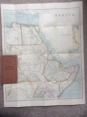 PHILIPS'AUTHENTIC IMPERIAL MAPS : AFRICA NORTH EAST SHEET C.1920s.