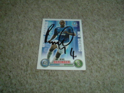 Anthony Gardner - Everton - Signed 07/08 Match Attax Trade Card