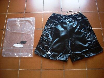 "Rare Deadstock Original Uhlsport 80 90 Goalkeeper 1 Shorts Black L 32"" Bnib Vtg"
