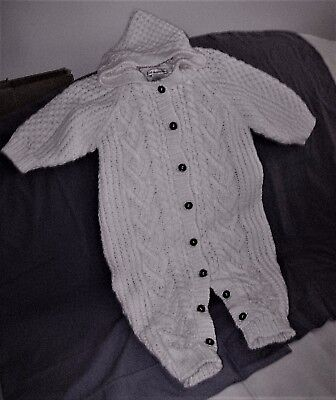 baby First Impressions  cable knit, hooded,coverall sweater 6-9 mo 1 PC.