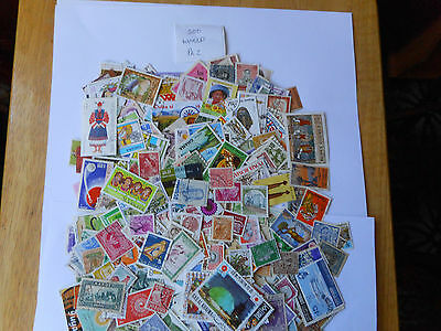 500 world mix used postage stamps bargain 1p per stamp pk 2