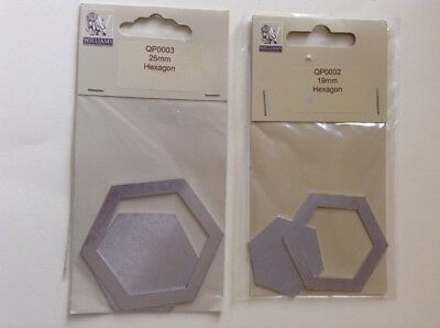 Two Different Size Hexagon Metal Patchwork Templates Quilting/Sewing