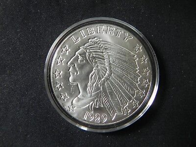 2 - 1 oz. 999 Fine Silver Rounds - Incuse Indian - BU - Protected In a Capsule