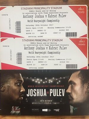 Anthony Joshua Vs Kubrat Pulev tickets X 2 Lower Tier