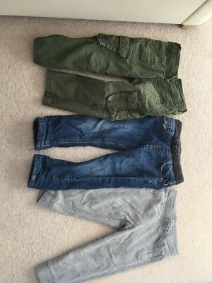 3 Pairs Of Boys Trousers 2-3 Years