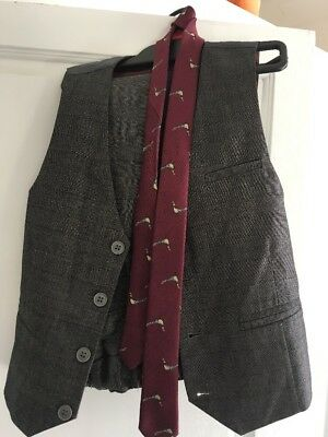 Kids Next Suit Age 7 Years Grey With an Overcheck. Peaky Blinder Suit