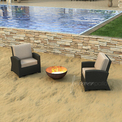 Forever Patio Barbados Deep Seating Chair with Cushions Set of 2