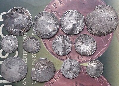 free P&P detecting finds hammered silver coins x12