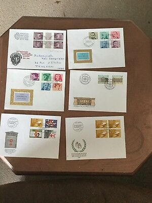 Switzerland First Day Covers 12 Various Commemorative Issues