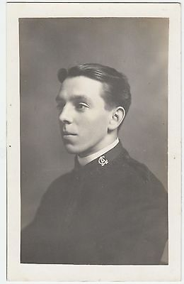 CHURCH ARMY - A Young Clergyman - c1900s era Real Photo postcard