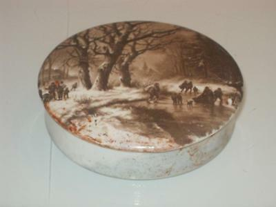 Antique Prattware Pot Lid