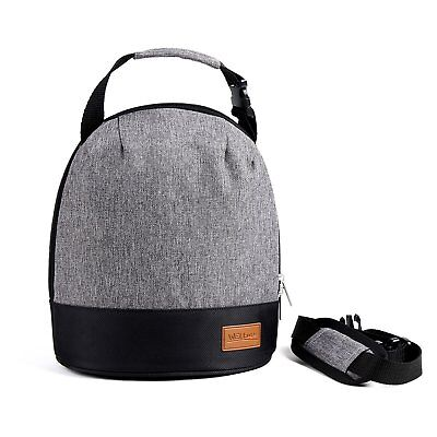 WELLuse 6-can capacity Insulated Lunch Bag- Freezer Safe, Smooth Zipper- Unisex