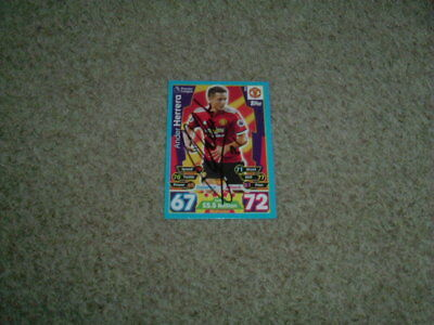 Ander Herrera - Manchester United - Signed 17/18 Match Attax Trade Card