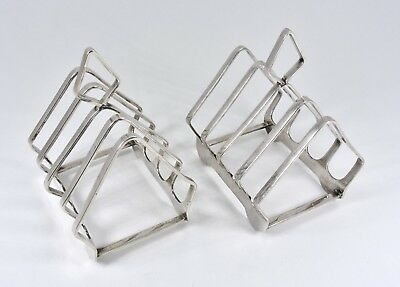 Pair of Antique English Silver Plated Toast Racks, (Elkington & Co, c1925)