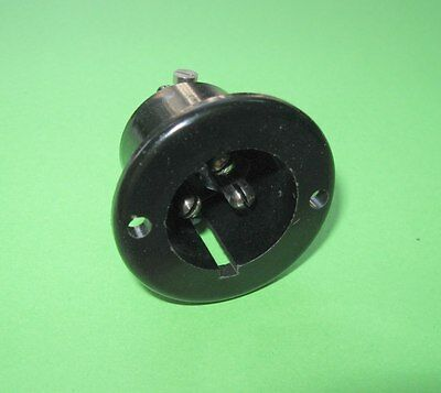 Vintage Bulgin  3pin chassis socket NEW for mains on old valve amps