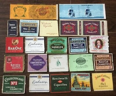 106 Vintage Cigarette & Cigar Packet Fronts
