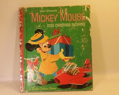 Mickey Mouse Goes Christmas Shopping A Little Golden Book