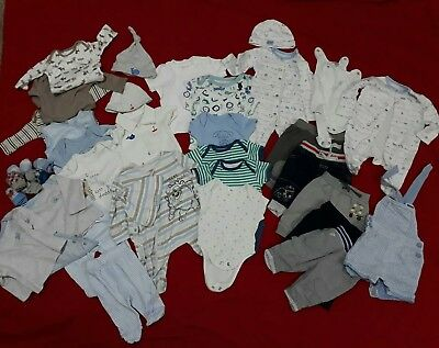 Large Bundle newborn / up to 1 month / first size Boys Clothes Bodysuits socks