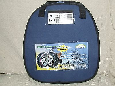Barland. CAR SNOW CHAINS  Brand New 9 mm Links. 15 to 19 inch wheels