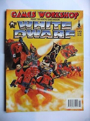WHITE DWARF 143, WARHAMMER, 40,000 (40k), GAMES WORKSHOP, NOVEMBER 1991