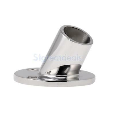 Marine Boat Hand Rail Fitting Round Stanchion Base for 30mm Tube 60 Degree