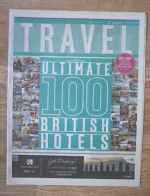 """Ultimate 100 British Hotels"" 2016 UK Times Newspaper Travel Supplement"