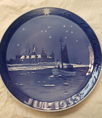 Royal Copenhagen Christmas Plate July 1935 Rare Excellent Condition