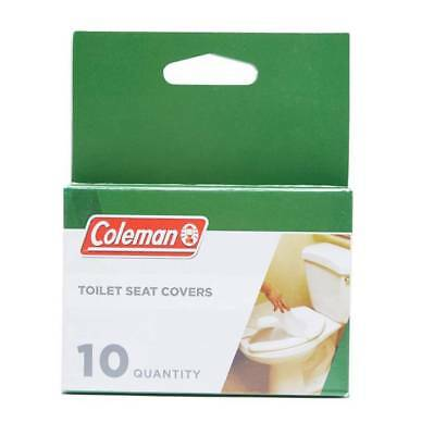 Coleman Hygienic Camping Public Toilet Seat Cover 10 Pack
