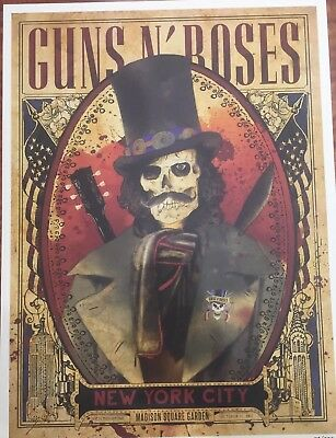 Guns and Roses MSG NYC Poster from 10/16 featuring SLASH limited of 300 GNR!