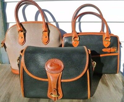 Dooney & Bourke vintage lot of three rehab/parts purses SOLD as is!