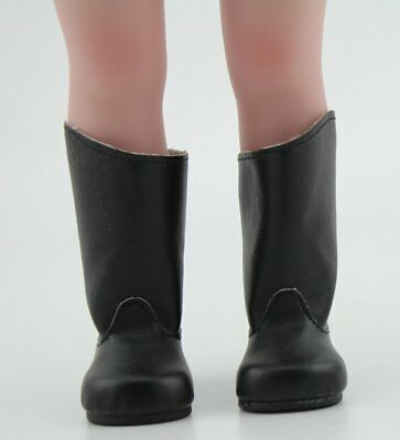 "Black Leather Shoes Boots  Made For Fit 18"" American Girl Doll Clothes"