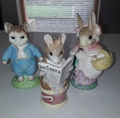 3 - Royal Albert Beatrice Potter Large figurines
