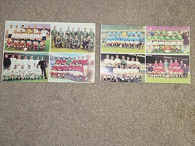 Top Cup Teams presented with The Hornet comic 1960's x 2 sheets
