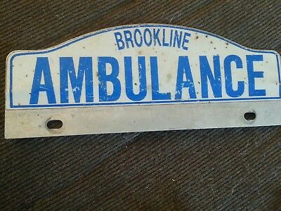 Brookline AMBULANCE License Plate Topper